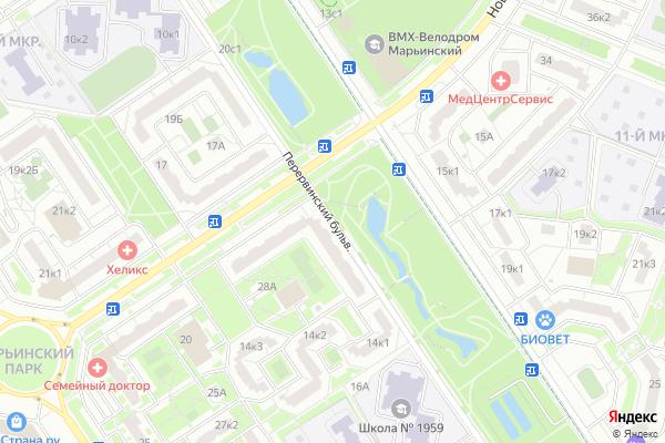 Ремонт телевизоров Перервинский бульвар на яндекс карте