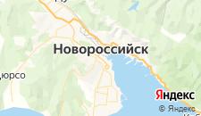 Гостиницы города Новороссийск на карте