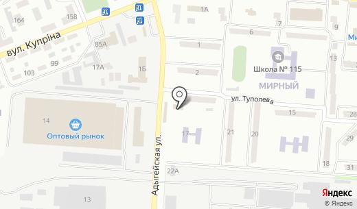 Компания по заказу грузового транспорта. Схема проезда в Донецке