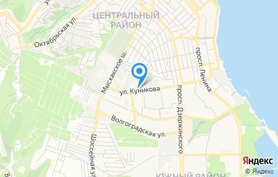 Местоположение на карте пункта техосмотра по адресу Краснодарский край, г Новороссийск, ул Куникова, д 47