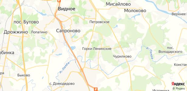 Горки Ленинские на карте