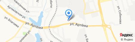 Ключ здоровья на карте Донецка