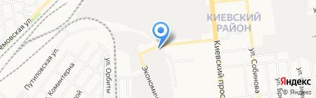Радуга на карте Донецка