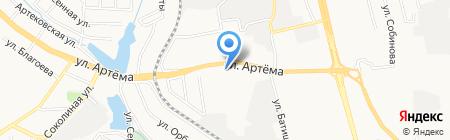 Теллур на карте Донецка