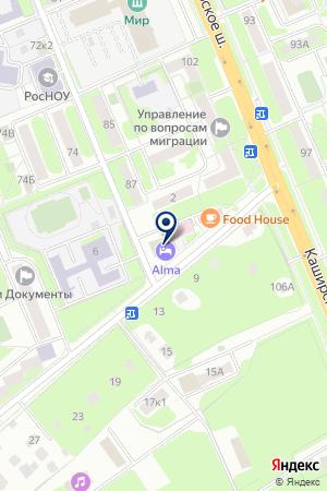 ГОСТИНИЦА ГЛОБУС на карте Домодедово