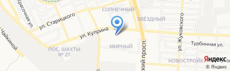 Светлана на карте Донецка
