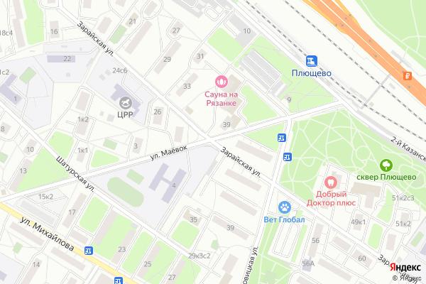 Ремонт телевизоров Улица Зарайская на яндекс карте