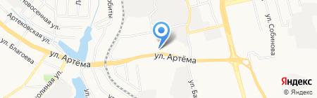 Востторг на карте Донецка