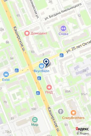 ПАРИКМАХЕРСКАЯ НА КАШИРКЕ на карте Домодедово