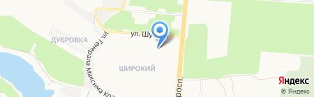 Эпицентр на карте Донецка