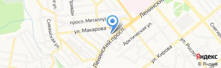 Донецкая детская хореографическая школа на карте Донецка