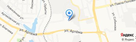 Итака на карте Донецка