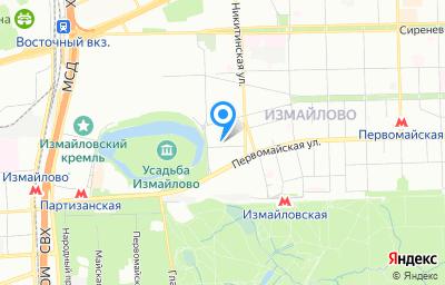 Местоположение на карте пункта техосмотра по адресу г Москва, проезд Измайловский, д 8А