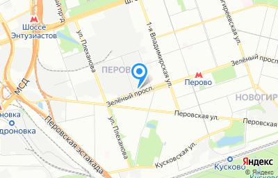 Местоположение на карте пункта техосмотра по адресу г Москва, пр-кт Зелёный, д 3А стр 1