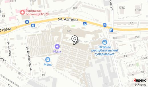 Pulsar. Схема проезда в Донецке