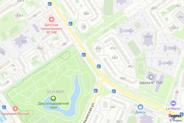 Ремонт телевизоров Улица Белореченская на яндекс карте