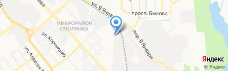 Атем на карте Донецка