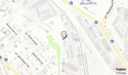Атем. Схема проезда в Донецке