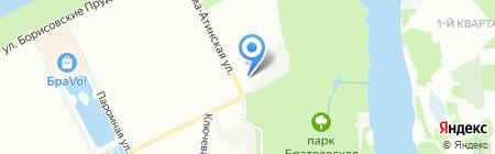 ДЕЗ района Братеево на карте Москвы