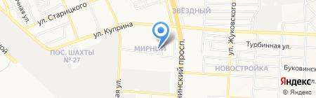 Целитель на карте Донецка