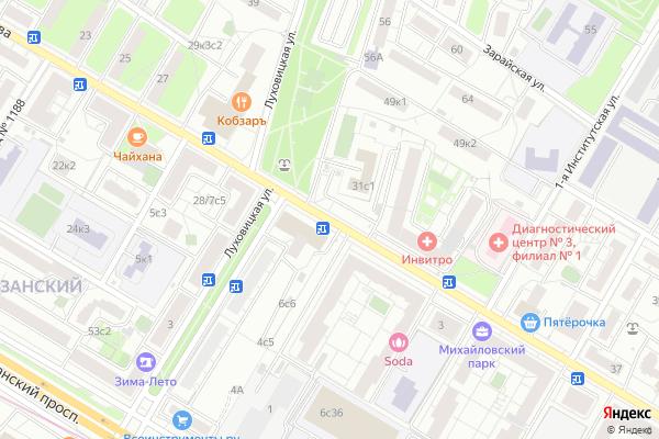 Ремонт телевизоров Улица Михайлова на яндекс карте