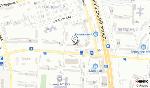 КБ Украинский финансовый мир. Схема проезда в Донецке