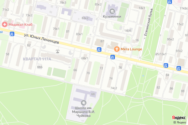 Ремонт телевизоров Район Кузьминки на яндекс карте