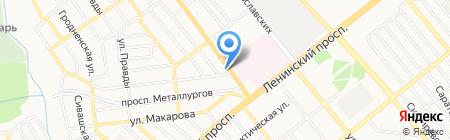 Слайдер на карте Донецка