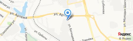 Маяк на карте Донецка