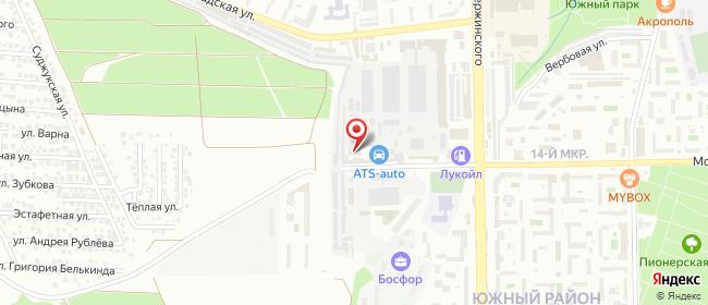Карта расположения пункта доставки СИТИЛИНК в городе Новороссийск