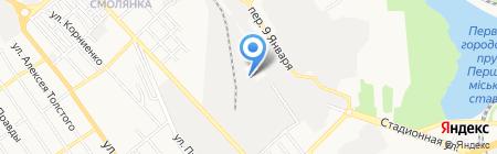 Фав на карте Донецка