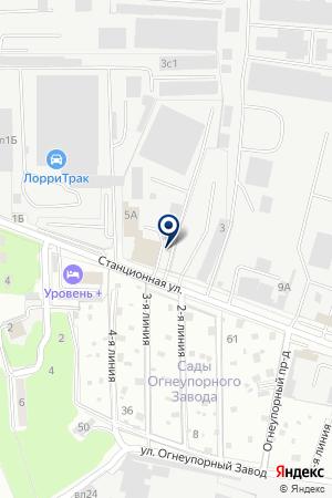 АВТОМАСТЕРСКАЯ ЛАНА на карте Домодедово