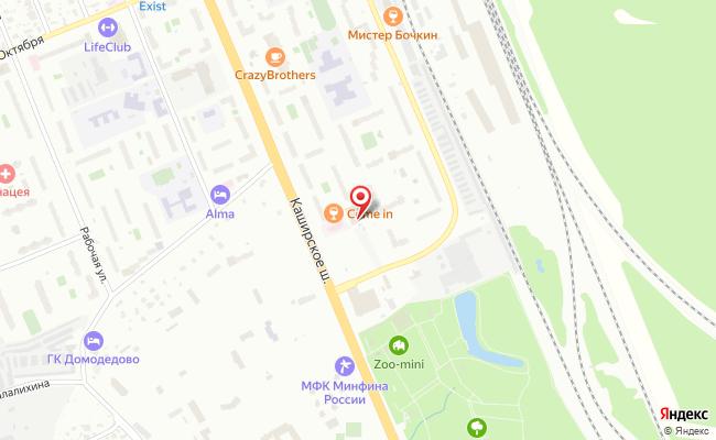 Карта расположения пункта доставки Халва в городе Домодедово