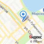Библиотека им. Э.Э. Баллиона на карте Новороссийска