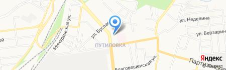 Шахтер-авто на карте Донецка