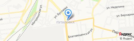 Pizzeria на карте Донецка
