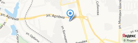 Калач на карте Донецка