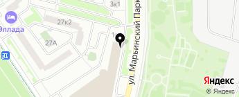Марьинский парк на карте Москвы
