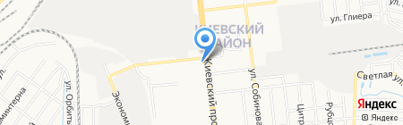 Атланта на карте Донецка