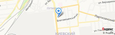 Платан на карте Донецка