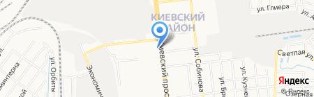 Рено+ на карте Донецка