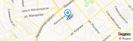Панорама на карте Донецка