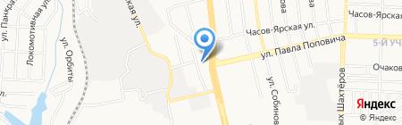 Фрегат на карте Донецка