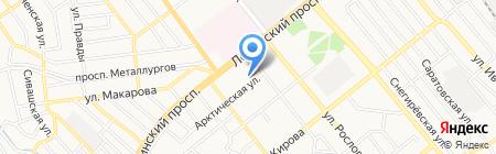 Парикмахерская на ул. Луговцова на карте Донецка