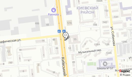 Киевский. Схема проезда в Донецке