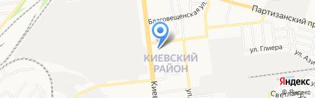 Бомба на карте Донецка