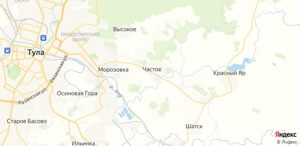 Частое на карте