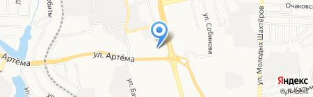 Немецкие окна на карте Донецка