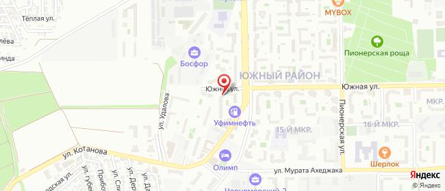 Карта расположения пункта доставки Пункт выдачи ЮЖНЫЙ в городе Новороссийск