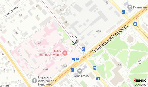 Киоск по продаже печатной продукции. Схема проезда в Донецке